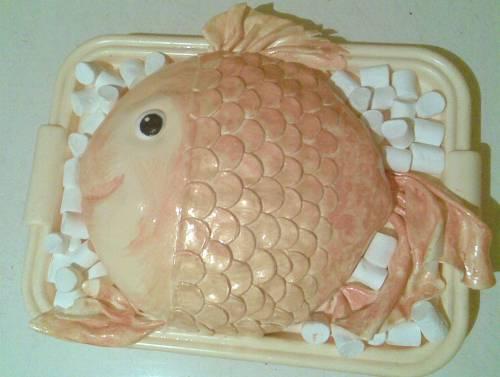 фоткам фото торт рыба из сливок горшочков нет, можно