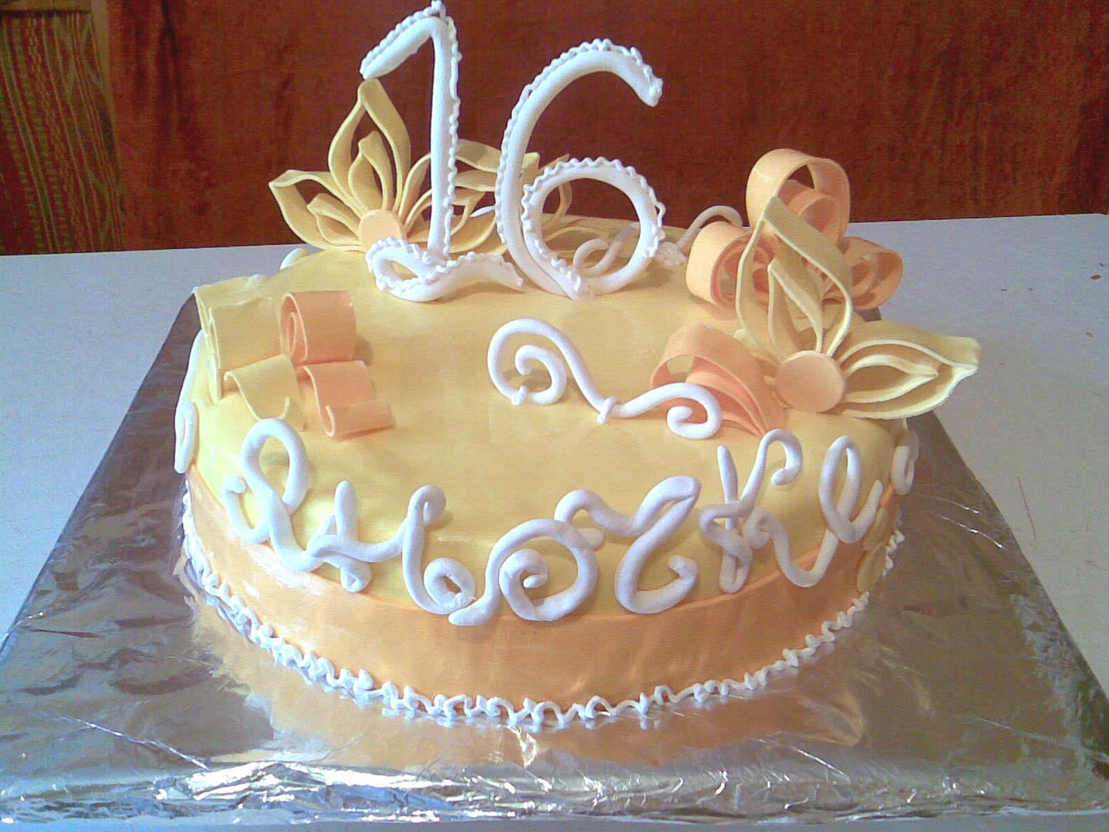 Торт на 16 летие фото